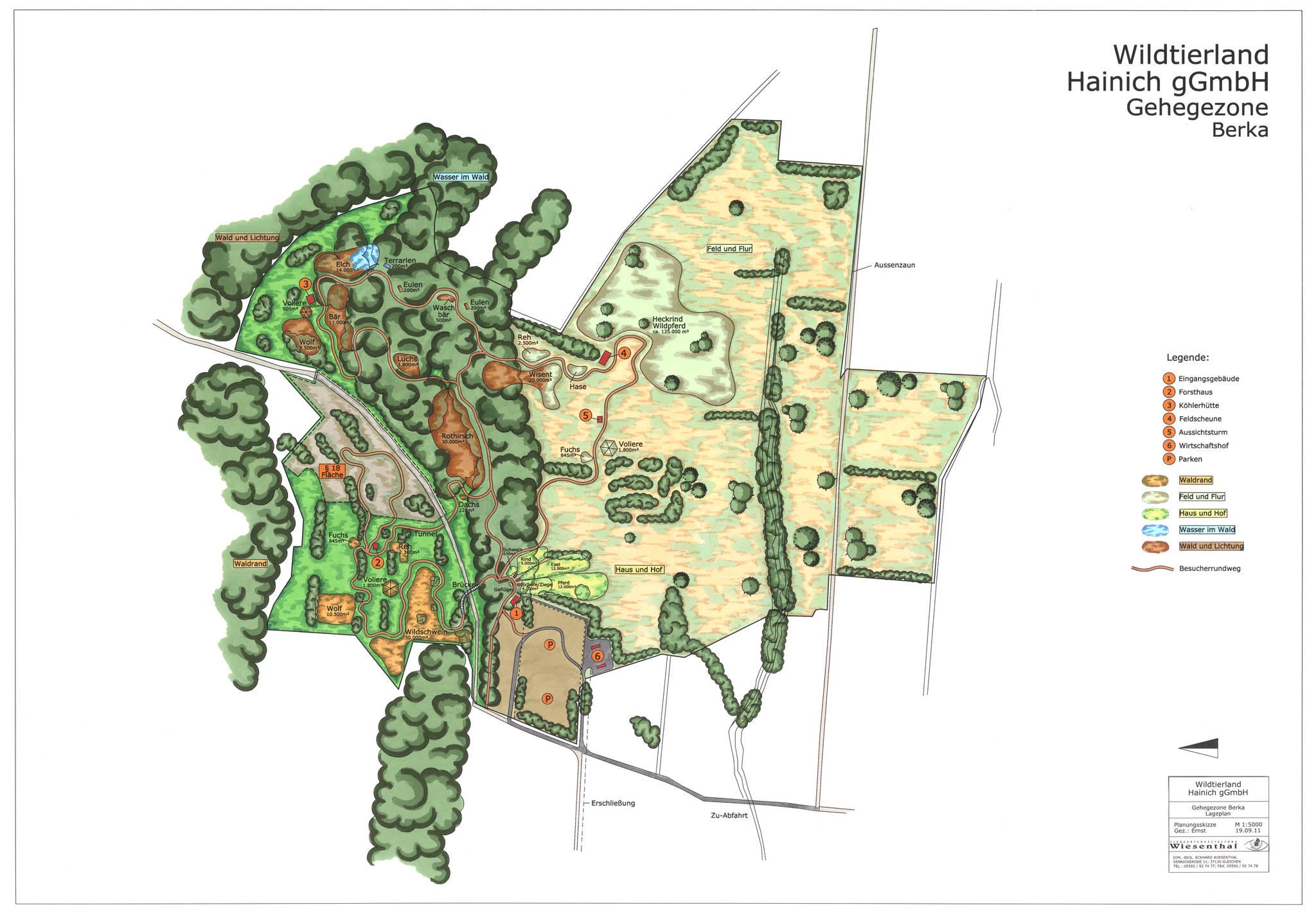 Tiergartengestaltung Wiesenthal Referenzen 10 000m Atlas 2 Wiring Diagram Wildtierland Hainich Berka